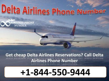 Book Flight Ticket with Delta Airlines Phone Number +1-844-550-9444