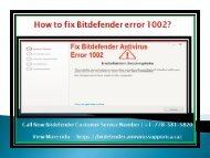 How to fix Bitdefender error 1002?