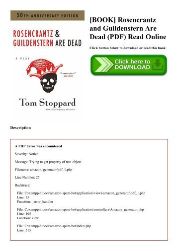 Rosencrantz And Guildenstern Are Dead Ebook
