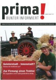prima! Magazin - Ausgabe August 2011