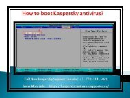 how to boot kaspersky antivirus