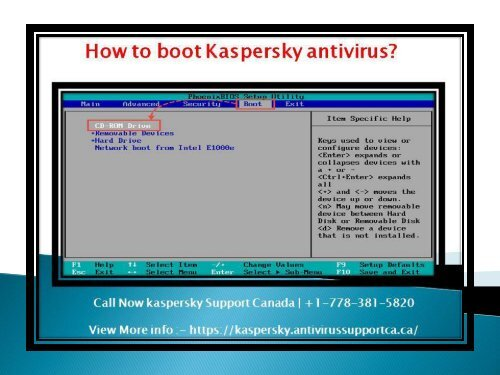 how to boot kaspersky antivirus