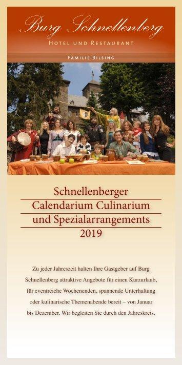 Burg-Schnellenberg - Calendarium Culinarium 2019