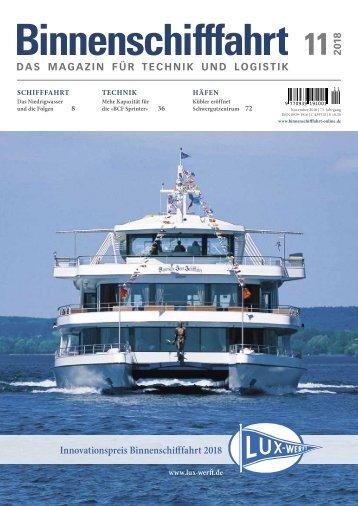 Binnenschifffahrt, Online-Ausgabe 11 | 2018