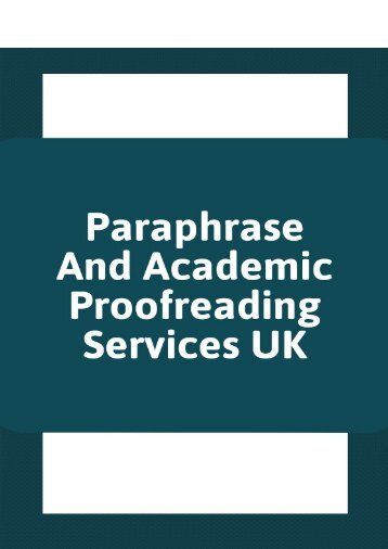 Paraphrase and academic services UK