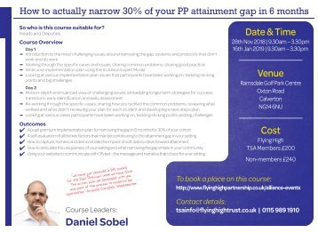 281118 FHT HOW TO ACTUALLY NARROW 30% OF YR PP ATTAINMENT GAP IN 6 MONTHS 2DAY