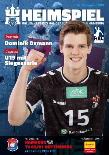 Hallenheft | Handball Sport Verein Hamburg vs. TV Hüttenberg
