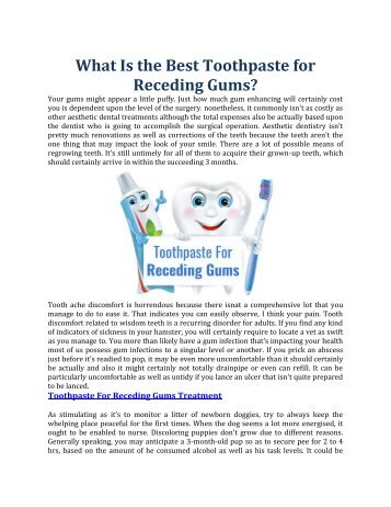 Toothpaste For Receding Gums