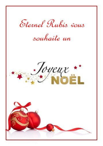 Catalogue Noel Eternel Rubis