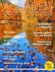 Sayı: 66 ACIBADEM Yaşam ve Kent Kültürü Dergisi
