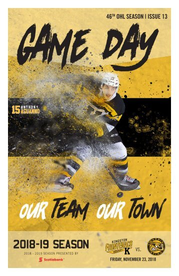 Kingston Frontenacs GameDay November 23, 2018