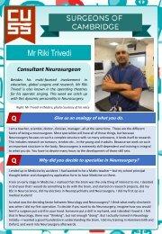 Surgeons of Cambridge #3 - Mr Riki Trivedi
