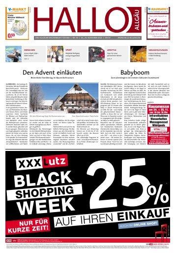 Hallo-Allgäu Memmingen vom Samstag, 24.November
