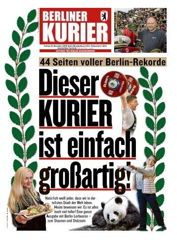 Berliner Kurier 23.11.2018