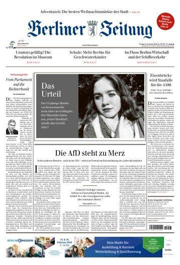 Berliner Zeitung 23.11.2018