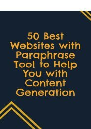 50 Best Websites With Paraphrase Tool To Help You With Content Generation