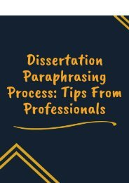 Dissertation Paraphrasing Process: Tips From Professionals