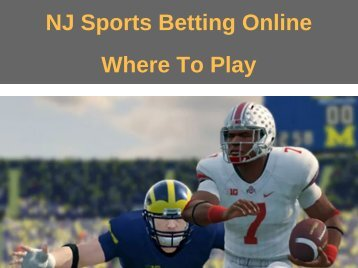 NJ Sports Betting Online Where To Play