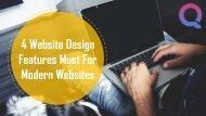 Website Designing Features Must for Modern Website