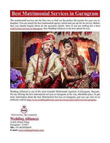 Best Matrimonial Services in Gurugram