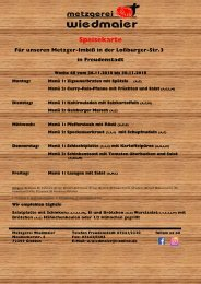 Speisekarte Loßburgerstr.  Kw 48