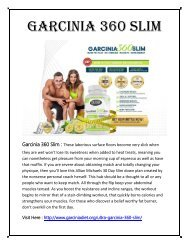 Garcinia 360 Slim : 100% Safe Formula To Loose Your Body Weight..!!