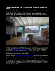 Want cheap places to stay in new zealand Contact to new zealand stays-converted