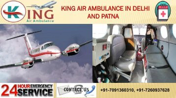 Book King Air Ambulance in Delhi and Patna with Unbeatable Role