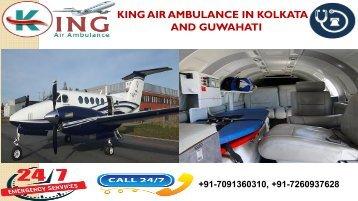 Hired Budget-Friendly and Matchless King Air Ambulance in Kolkata and Guwahati