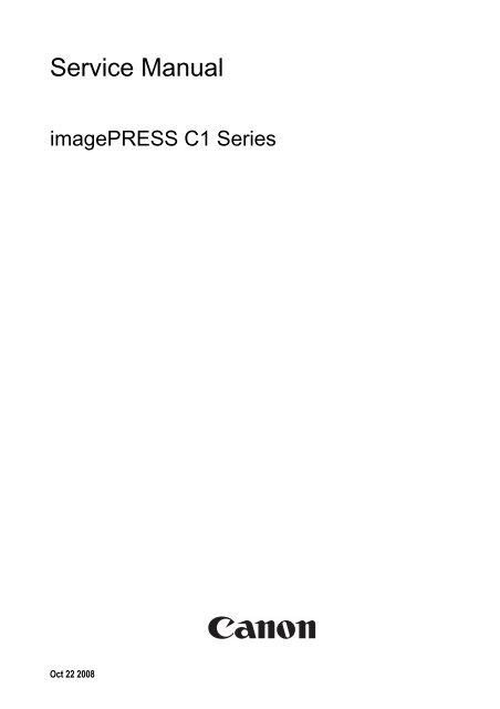 canon imagepress c1 reference guide
