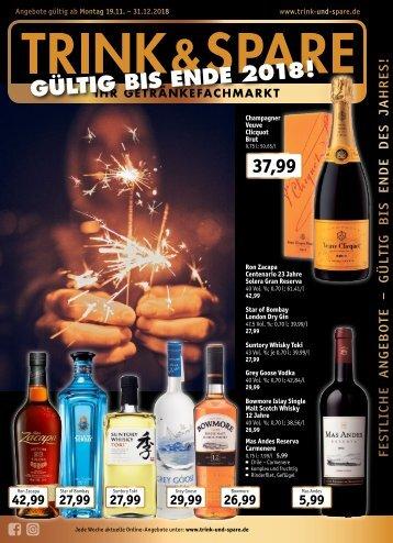Weine & Spirituosen Angebote bis zum 31.12.2018