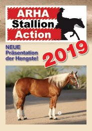 ARHA Stallion Aktion 2019 Katalog