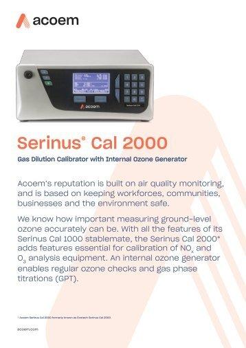 ECOTECH Serinus Cal 2000 spec sheet