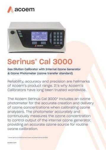 ECOTECH Serinus Cal 3000 spec sheet