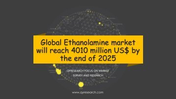 Global Ethanolamine market will reach 4010 million US$ by the end of 2025
