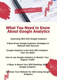 What You Need to Know About Google Analytics