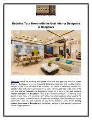 Hire Efficient and Innovative Interior Decorators in Bangalore