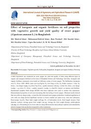 Effect of inorganic and organic fertilizers on soil properties with vegetative growth and yield quality of sweet pepper (Capsicum annuum L.) in Bangladesh