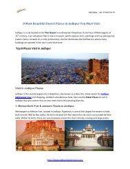 8 Most Beautiful Desert Places in Jodhpur