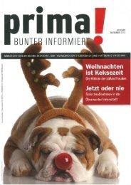 prima! Magazin - Ausgabe Dezember 2011
