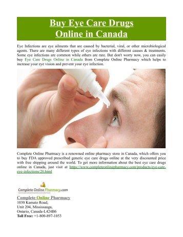 Buy Eye Care Drugs Online in Canada