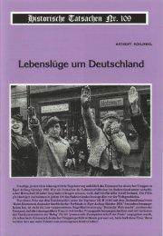 0677 Historische Tatsachen - Nr. 109 - Anthony Schlingel - Lebensluege um Deutschland (2010, 40 S., Bild)