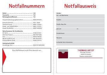 Notfallausweis Thomas Artzt 1