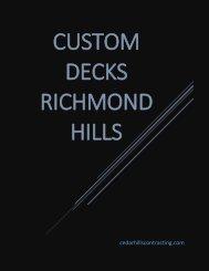 custom decks richmond hill