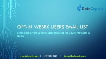 Where can I get opt-in WebEx Users Email List in the US