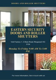 Why Is It Recommended To Opt For Security Doors In Melbourne?