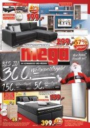 Bis zu 300 Euro Weihnachtsgeld bei mega-Möbel Uschold in Schwandorf und Weiden