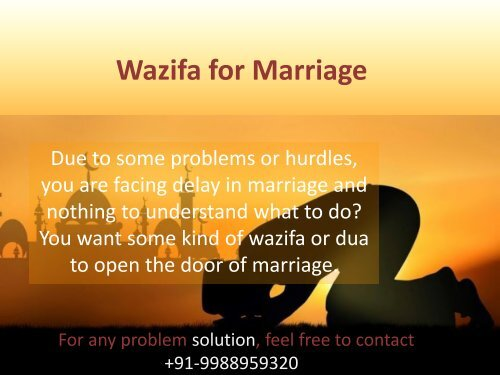 Free Marriage Contact