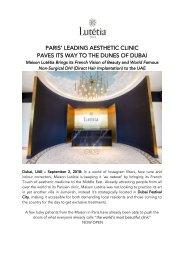 Maison Lutetia Paris - Now Open in Dubai