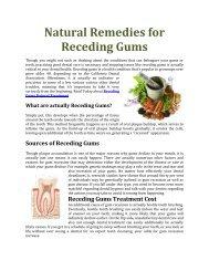 Gum Disease Receding Gums Treatment